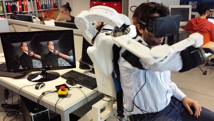 Embodied experience with Oculus HMD and ALEX Exoskeleton
