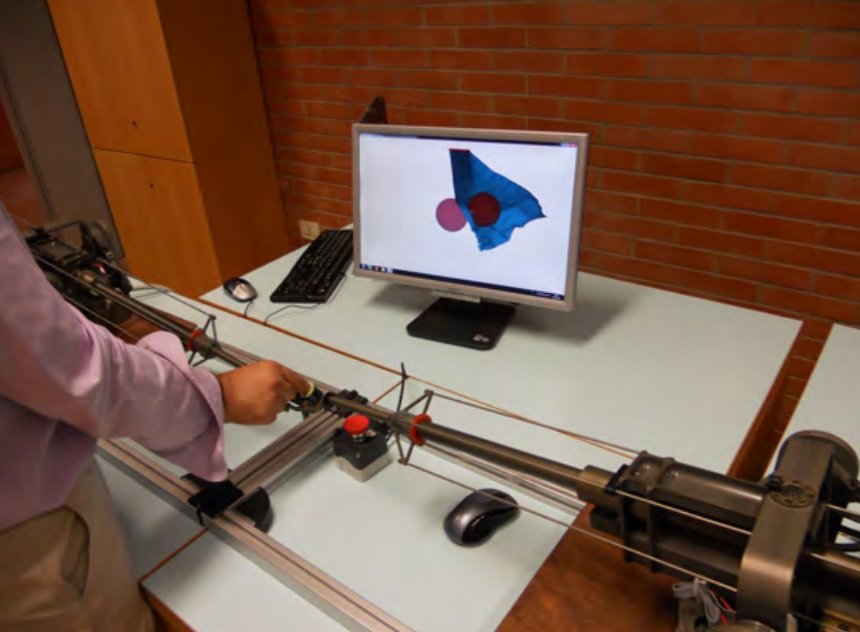 Haptic interaction with Textiles